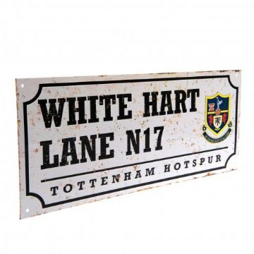 Tottenham Hotspur Retro White Hart Lane Street Sign